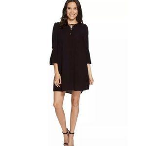 Jack BB Dakota 3/4 Sleeve Shift Dress in Black